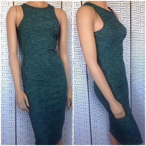 Cotton On Green Marled Ribbed Midi Tank Dress
